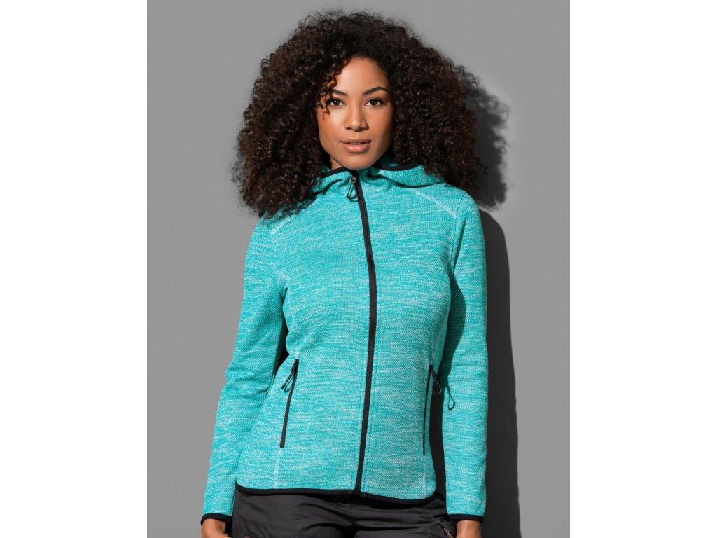 Dámská Fleece Bunda Hero (Barva Turquoise, Velikost XL)