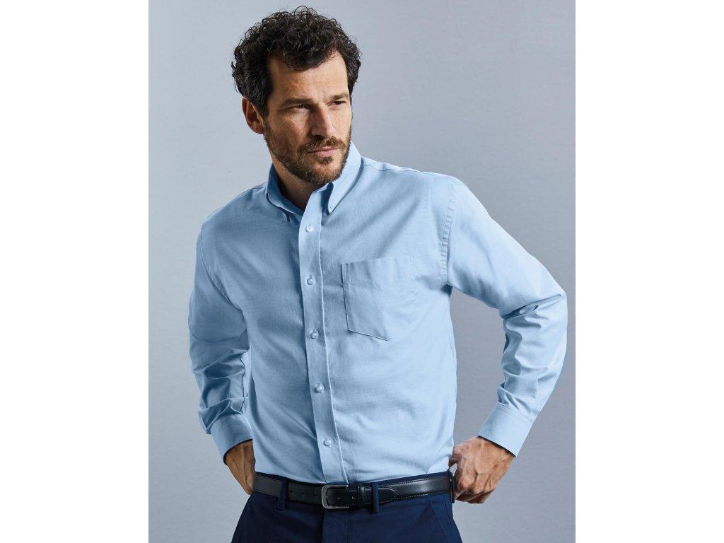 Košile Oxford s dlouhým rukávem (Barva Silver, Velikost 6XL)