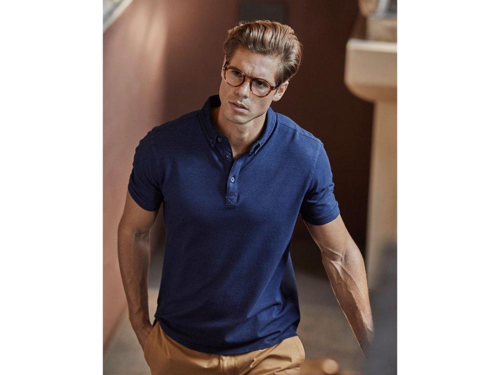 Fashion Luxury Stretch Polo (Barva Light Blue, Velikost 3XL)