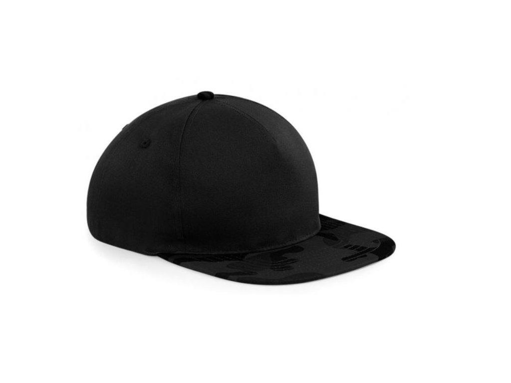 Black midnight camo snapback