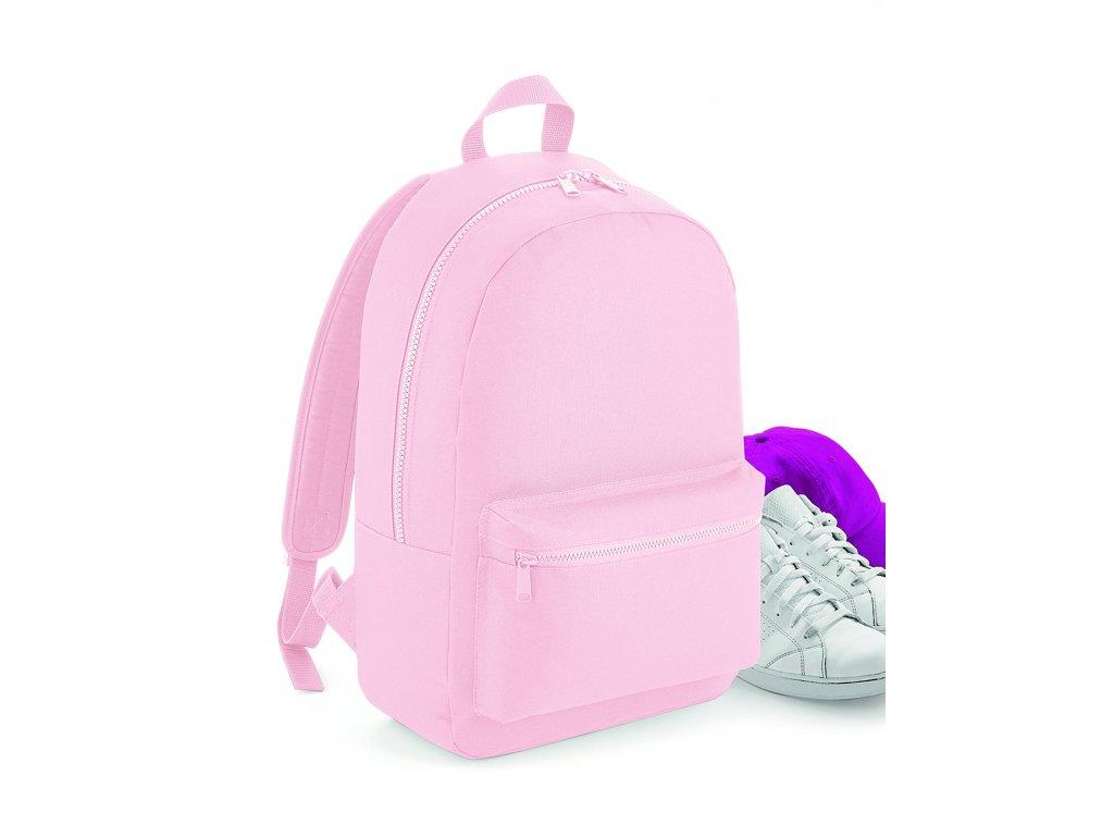 Růžový batoh esential přední část