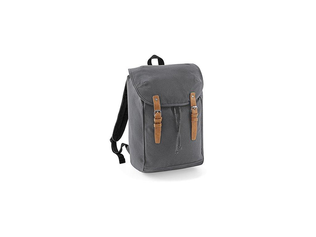 Vintage batoh šedý přední část