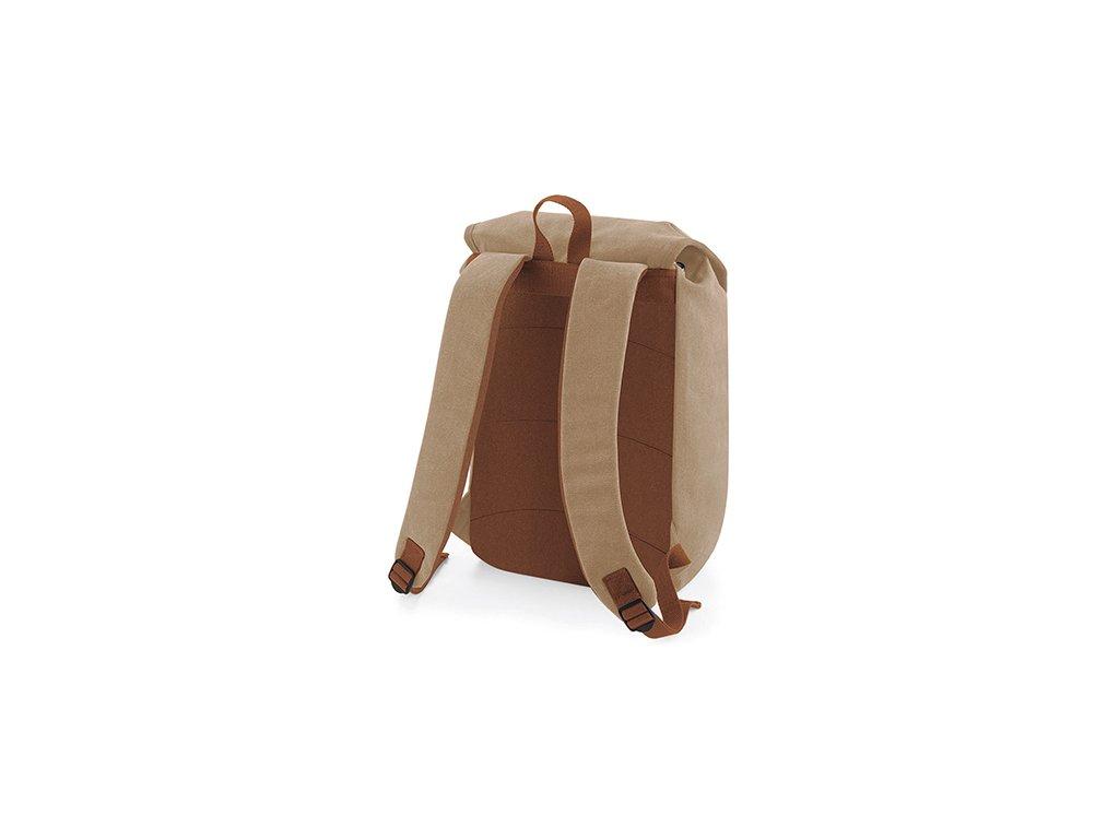 16354c747b Vintage batoh karamelový přední část · Vintage batoh karamelový zadní část