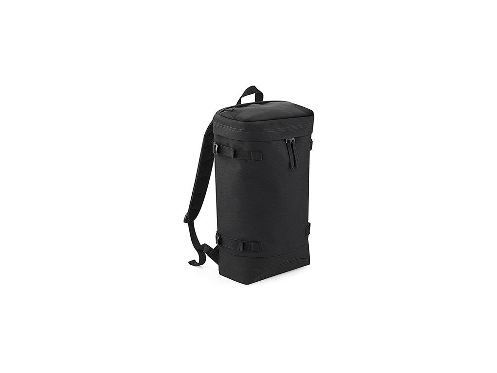 Černý batoh Toploader přední část