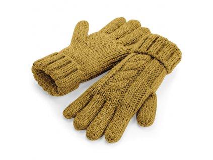 hořčicové rukavice
