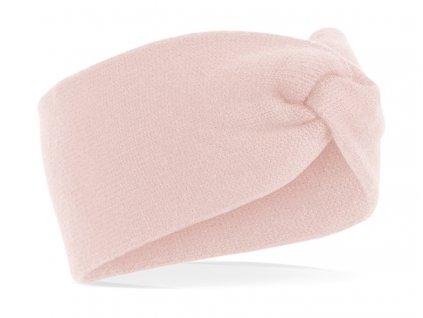 růžová zimní čelenka