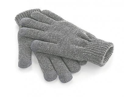 rukavice s dotykem na mobil šedé