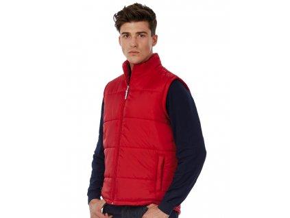 Pánská vesta Bodywarmer (Barva Red, Velikost 3XL)