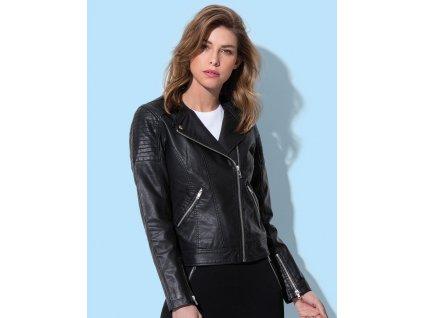 Dámská biker bunda (Barva Black Opal, Velikost XL)