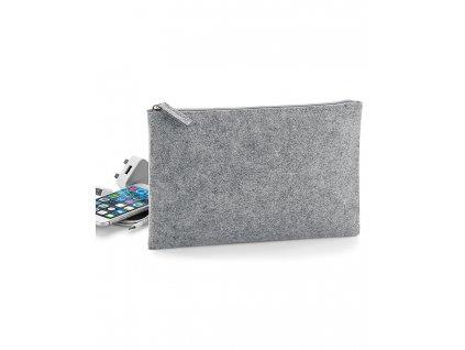 Plstěná taštička na doplňky Pouch (Barva Grey Melange, Velikost One Size)