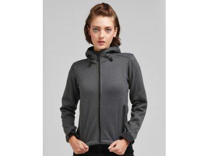 Dámská pletená fleece bunda (Barva Marl Denim/Black, Velikost 2XL)
