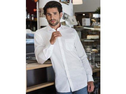 Pánská košile s dl.ruk. Tailored Coolmax® (Barva Light Blue, Velikost 4XL)