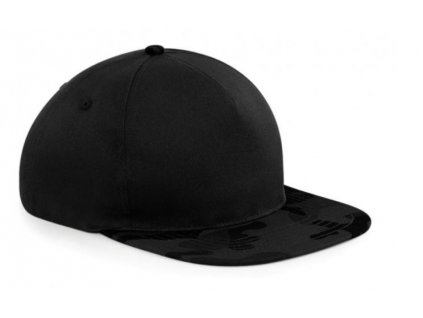 Black midnight camo snapback