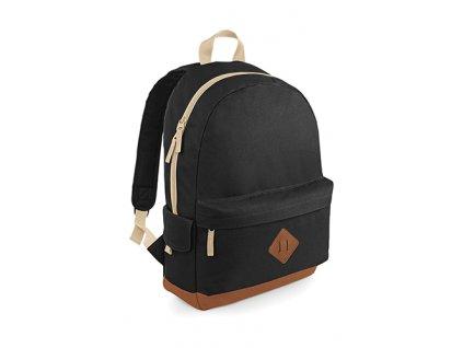Černý batoh Heritage přední část.