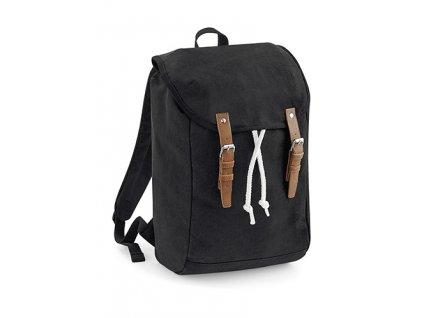 Vintage batoh černý přední strana