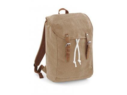 Vintage batoh karamelový přední část