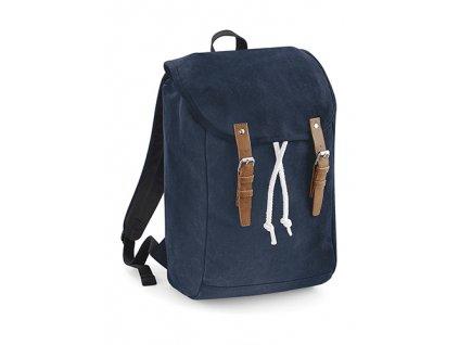 Vintage batoh modrý přední část