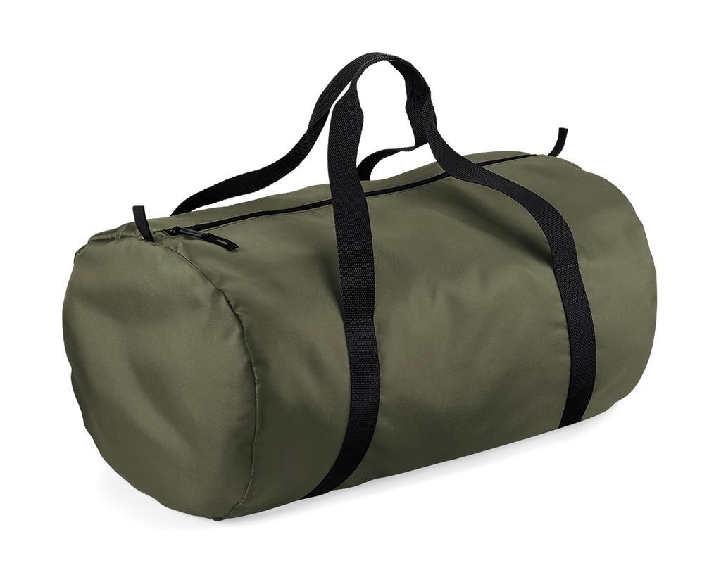 Bagbase Packaway Barrel Bag Barva: Olive Green/Black, Velikost: One Size
