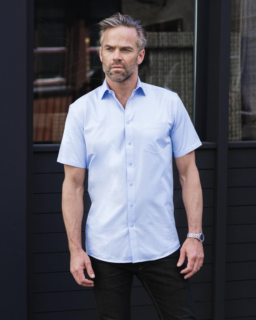 Russell Collection Pánská košile s kr.ruk. Tailored Coolmax® Barva: White, Velikost: S