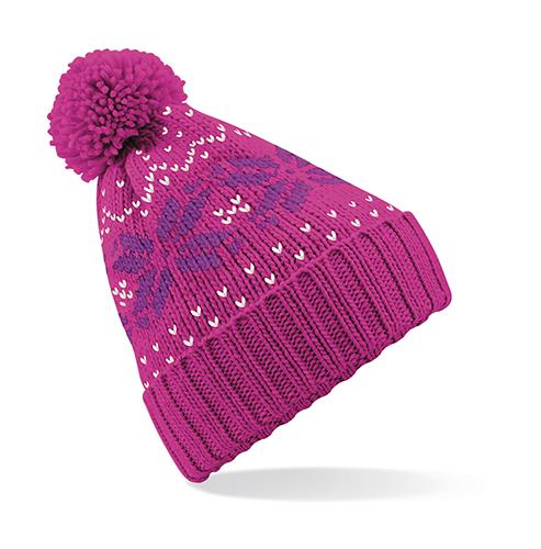 3273eaf2d0d Beechfield Zimní čepice Snowstar - růžová