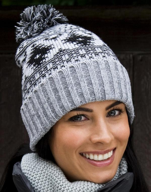Zimní čepice Deluxe šedá
