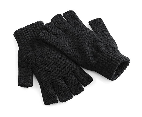 Beechfield Krátké rukavice Barva: Černá, Velikost: M