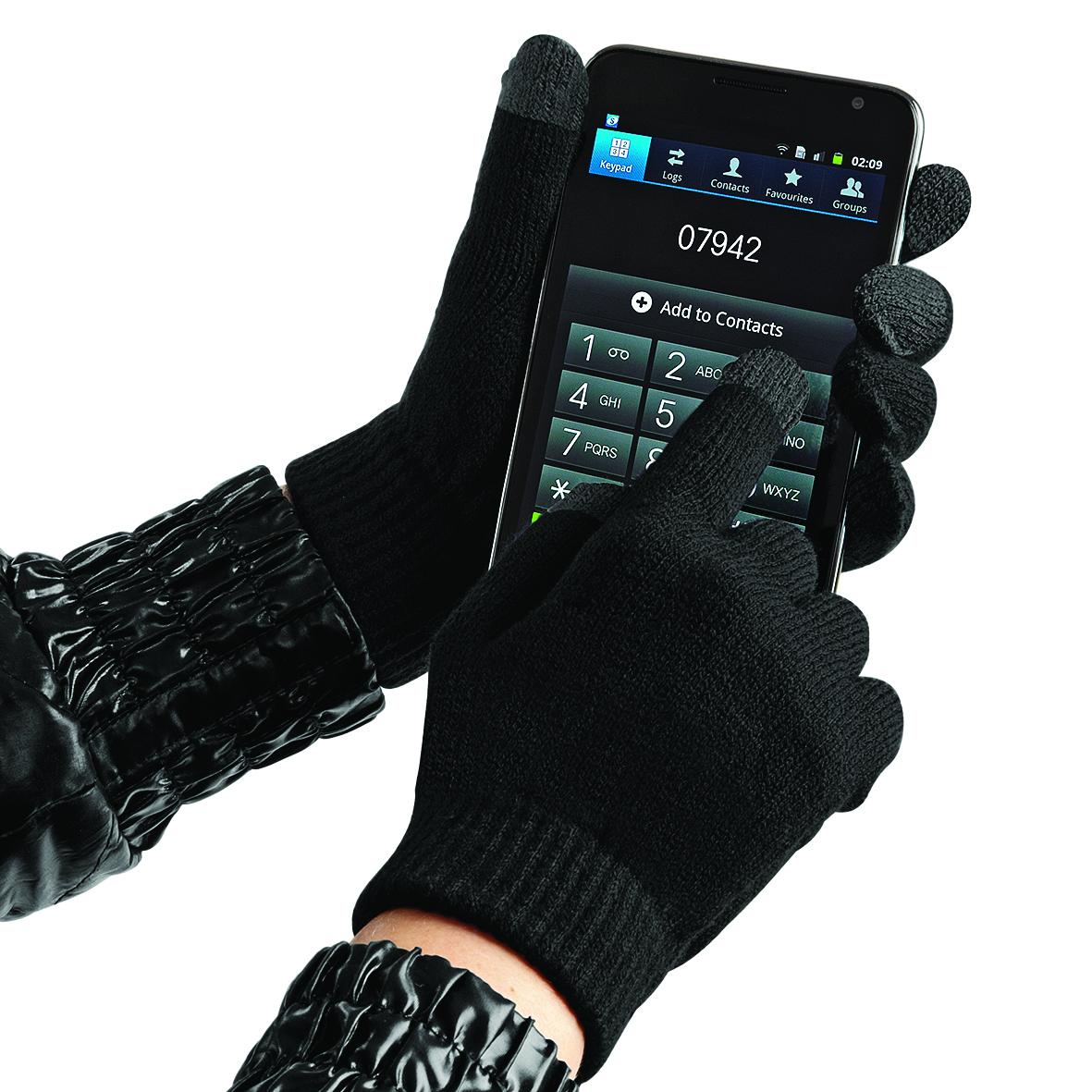 cfcd209dc57 Beechfield Zimní rukavice s dotykem na mobil - černé Velikost  L XL