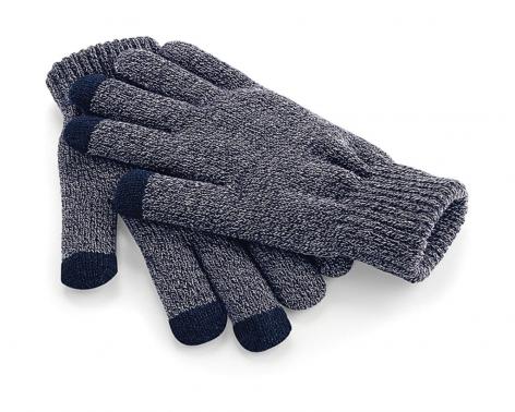 Beechfield Zimní rukavice s dotykem na mobil - šedé Velikost: S/M
