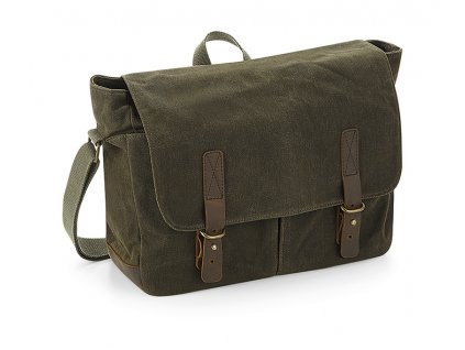 messenger heritage waxed canvas olive