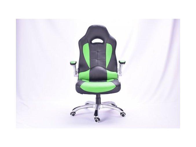 5753 bezdoteku kancelarska zidle viper cierna so zelenymi pruhmi
