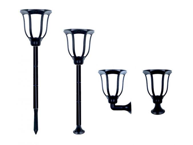 6227 bezdoteku ledsolar 168 solarni venkovni lucerna lampa 4 ks se senzorem bezdratove ipro 1w tepla barva