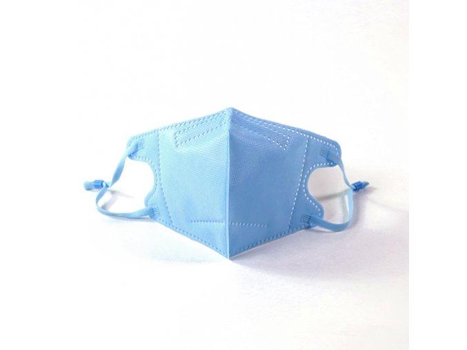 1x respirátor respirační rouška N95 FFP2 pro děti modrá