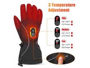5945 bezdoteku vyhrivane rukavice savior damske cervene vel xl