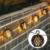 LEDSolar FireFly solární řetěz s 8 koulemi, iPRO, 1W, teplá barva