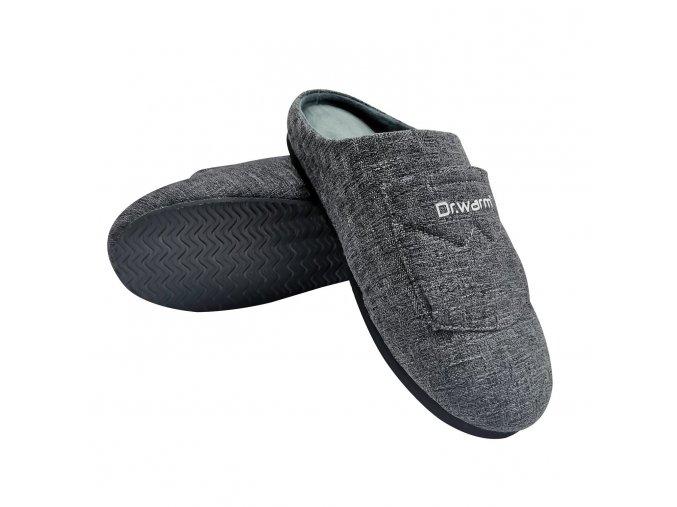 Vyhrievané papuče pantofle Dr. Warm vel. L