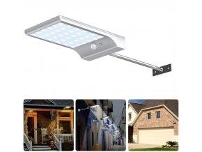LEDSolar 36 nástenná lampa s vysunutím biela, sa senzorom, bezdrôtové, 2,5 W, studená farba