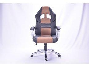 Kancelárska stolička Alonso čierna s hnedými pruhmi