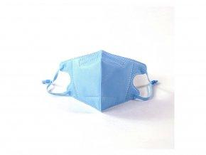 1x respirátor respiračná rúška N95 FFP2 pre deti modrá