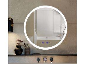 Nemlžící kúpeľňové zrkadlo guľaté s LED osvetlením 60x60 cm KZ3
