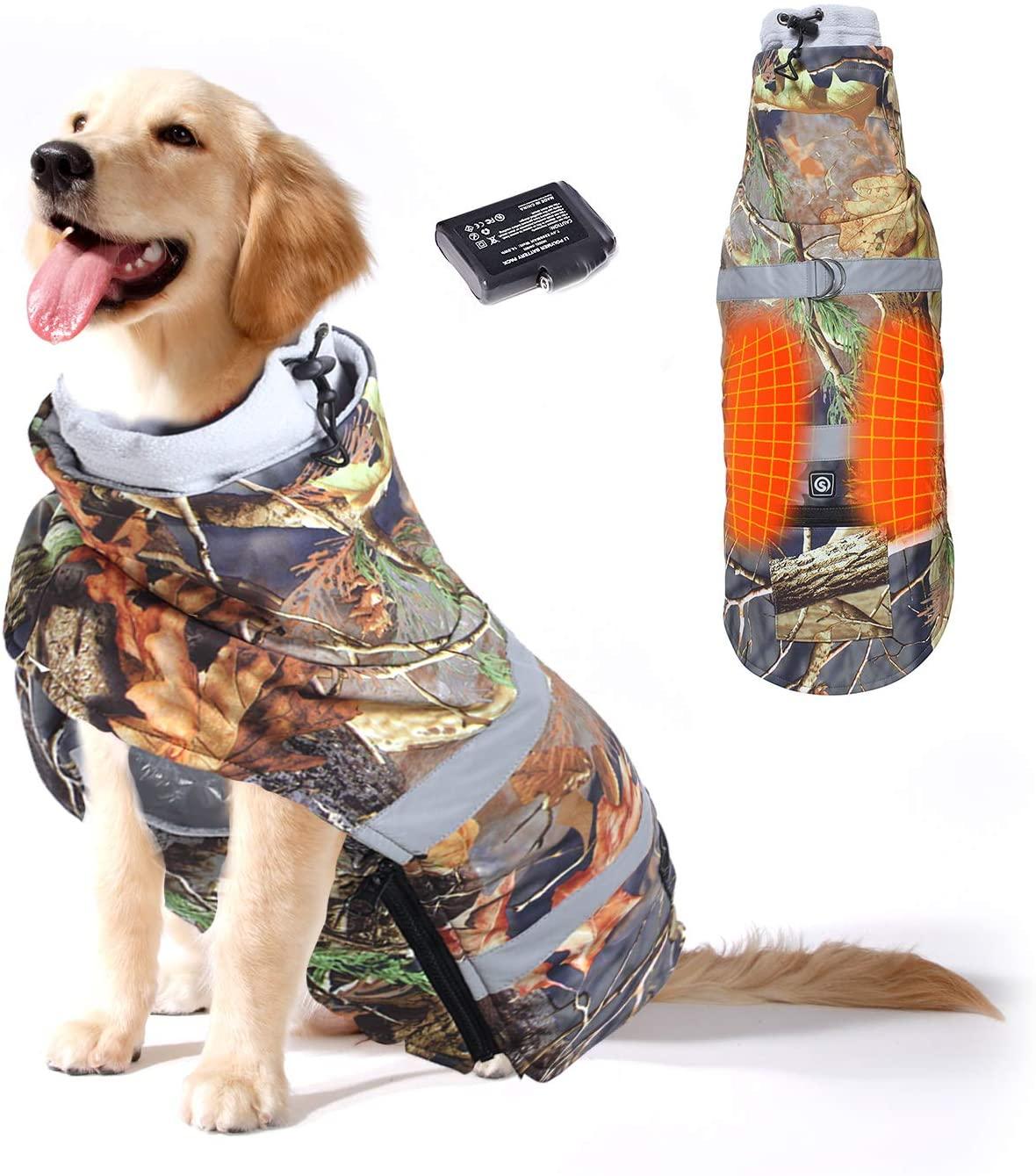 Bezdoteku Vyhrievaný oblečenie pre psov Savior maskáčový vel. S