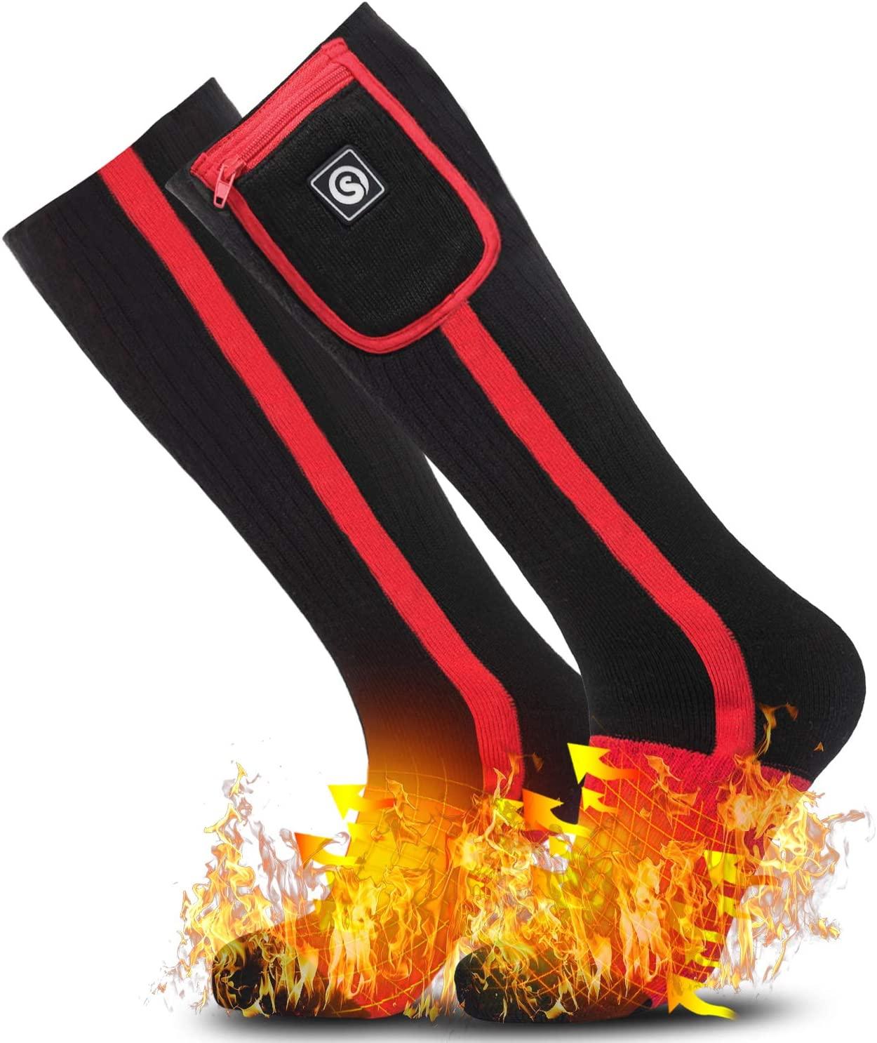 Bezdoteku Vyhrievané ponožky podkolienky Savior BR čierne vel. L