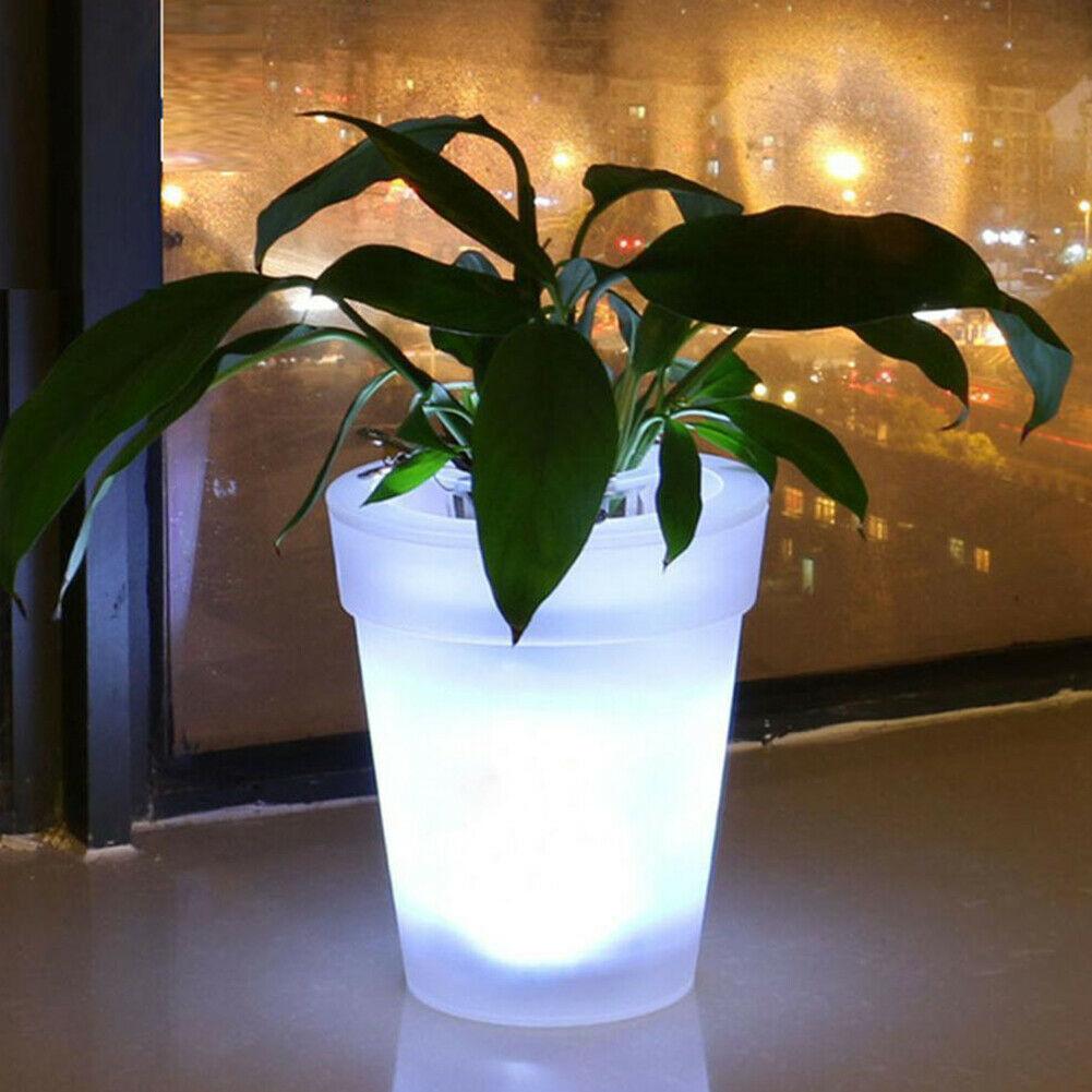 Bezdoteku LED solárne svietiaci kvetináč studená biela, IPRO, 1W, studená biela