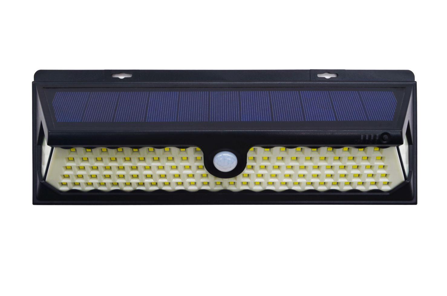 BEZDOTEKU LEDSolar 120 solárne vonkajšie svetlo svietidlo, 120 LED so senzorom, bezdrôtové, 4W, studená farba