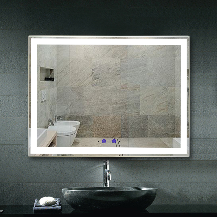 Bezdoteku Nemlžící kúpeľňové zrkadlo s LED osvetlením 80x60 cm KZ1