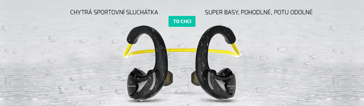 Bezdrátová sluchátka na běhání a sport - Awei A840BL