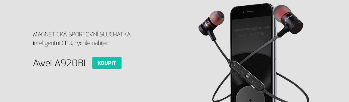 Bezdrátová sluchátka do uší Awei A920BL - perfektní k mobilu.