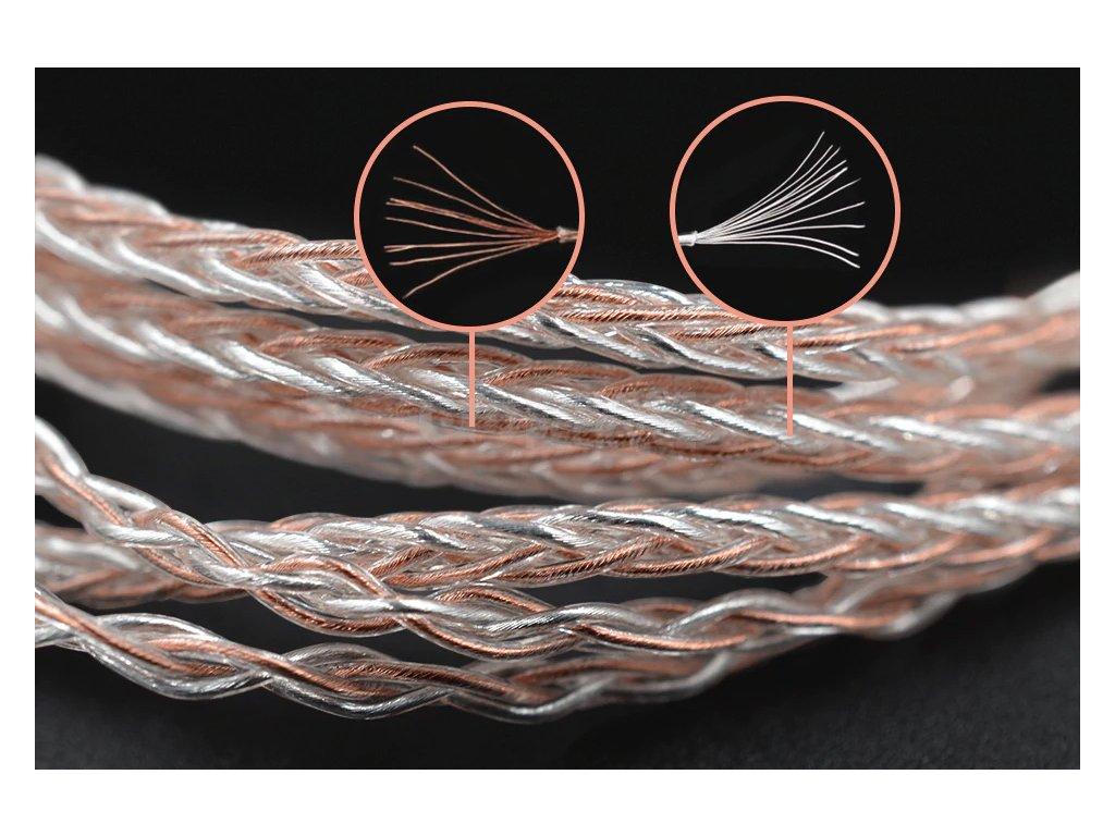 mmcx kabel pro sluchatka kz mmcx