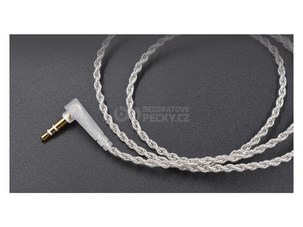 nahradni vylepsujici kabel na sluchatka kz zs5 zs3 zs6 stribrny