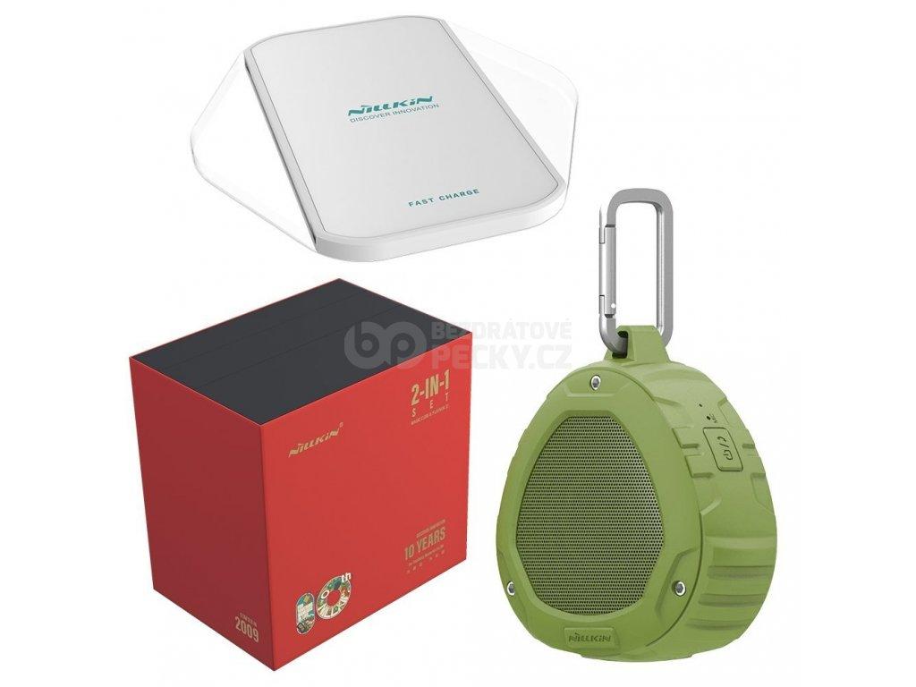 Nillkin Play Vox S1 Bluetooth reproduktor zelená + Magic Cube bezdrátová nabíječka