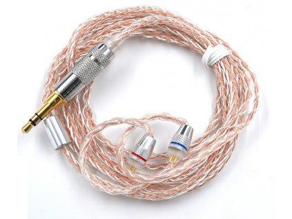 kz zs mixed a kabel pro sluchatka zs5 zs6 stribrno medeny